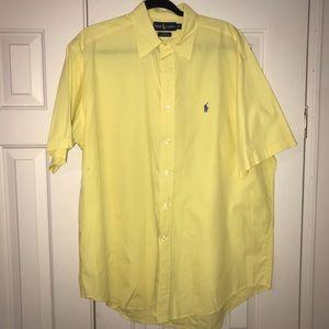 EUC Ralph Lauren  Short Sleeve Button Down Size L